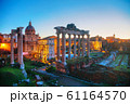 Roman forum ruins at the night time 61164570