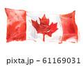 Canada, canadian flag. Hand drawn watercolor illustration 61169031