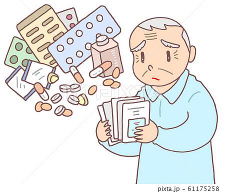 高齢者の多剤大量処方(お爺さん) 61175258