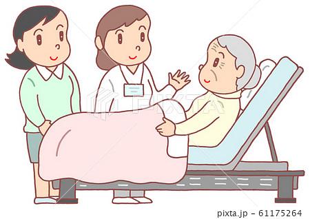 在宅介護・お婆さん 61175264