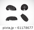 Vector of group of pill millipede. worms. Animal. 61178677