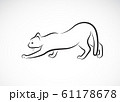 Vector of a cat design on white background. Pet. 61178678