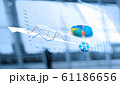 Business report and analyzing sales data on networking, Abstract interface, and economic growth graph chart with social network diagram, digital marketing 61186656