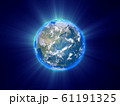 地球 輝き 宇宙 CG 61191325