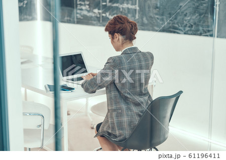 Serious office work with gadget stock photo 61196411