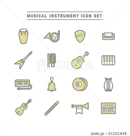 MUSICAL INSTRUMENT ICON SET 61201836