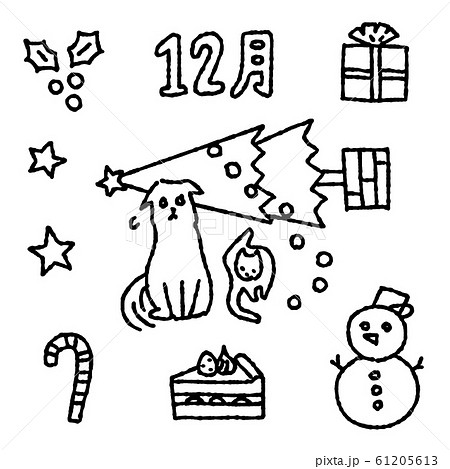 12月素材 犬と猫 61205613