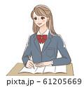 勉強する女子高生 61205669