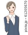 スーツ姿の女性 61205670