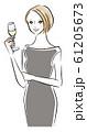 シャンパンを飲む女性 61205673