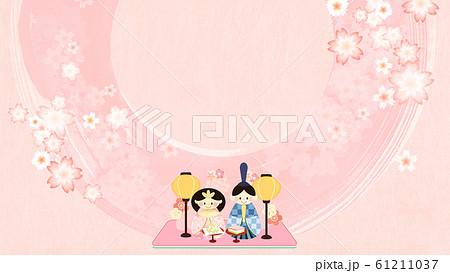 背景-和-和風-和柄-ひな祭り-ひな人形 61211037