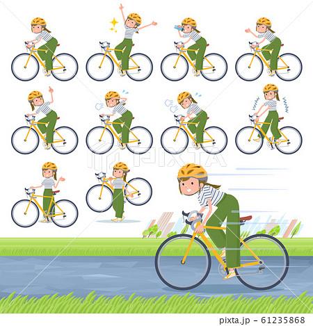 flat type khaki wide pants women_road bike 61235868