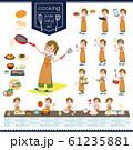 flat type khaki wide pants women_cooking 61235881