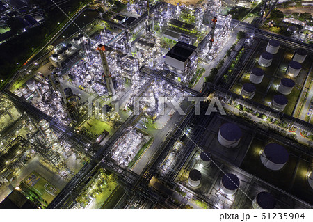 Aerial view of oil Refinery plant 61235904