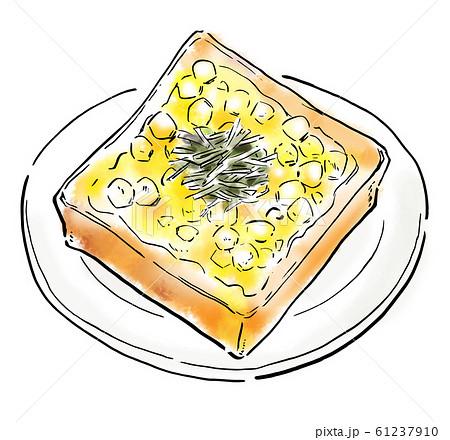 食べ物 イラスト コーントースト 61237910