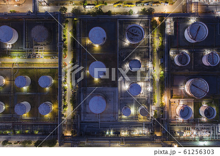 Aerial view oil refinery 61256303