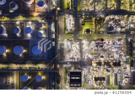 Aerial view oil refinery 61256304