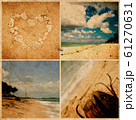 Collage of photos on grunge paper. Bali beach, Indonesia 61270631