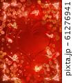 薔薇とハートと蝶々のキラキラフレーム 61276941