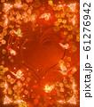 薔薇とハートと蝶々のキラキラフレーム 61276942