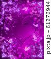 薔薇とハートと蝶々のキラキラフレーム 61276944