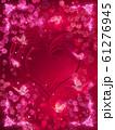 薔薇とハートと蝶々のキラキラフレーム 61276945