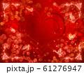 薔薇とハートと蝶々のキラキラフレーム 61276947