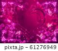 薔薇とハートと蝶々のキラキラフレーム 61276949