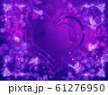 薔薇とハートと蝶々のキラキラフレーム 61276950