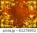 薔薇とハートと蝶々のキラキラフレーム 61276952
