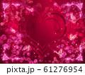 薔薇とハートと蝶々のキラキラフレーム 61276954