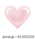 ハート ペールピンク デザイン素材 61303259