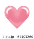 ハート ピンク デザイン素材 61303260