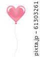 ハート型の風船 ピンク 61303261