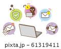 パソコン セキュリティー管理 セット 61319411
