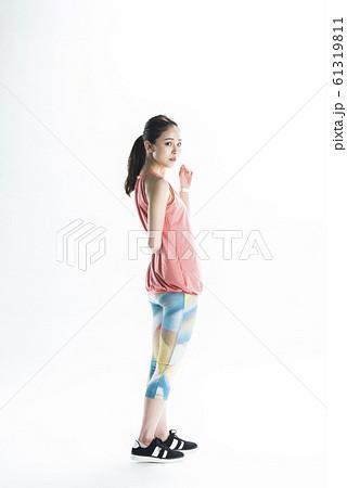 女性 スポーツウェア ポートレート 61319811