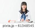 中学生 高校生 女性 セーラー服 授業 61348545
