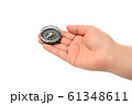 コンパス クローズアップ 手のひら 61348611