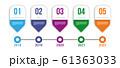 Infographics timeline elements. 61363033