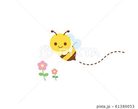 かわいいミツバチのイラスト 61380053