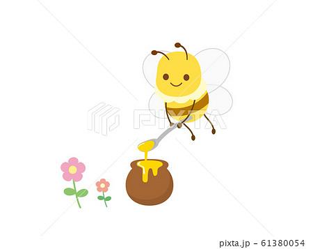 かわいいミツバチのイラスト 61380054