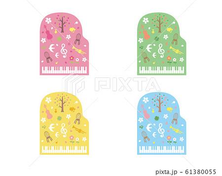 春の音楽のイラスト 61380055