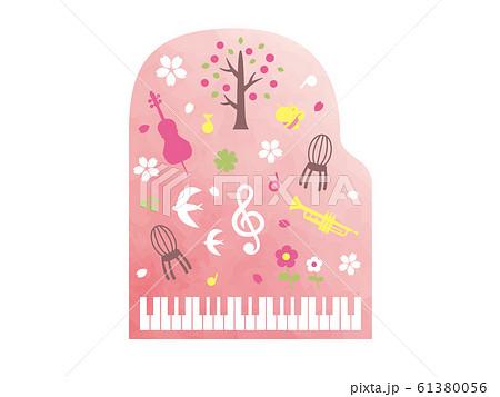 春の音楽のイラスト 61380056