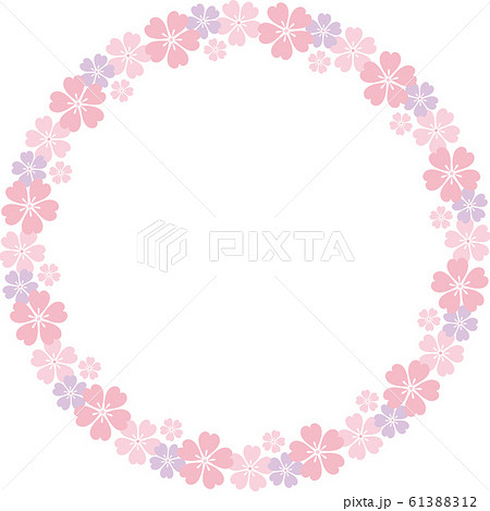 桜 リースb 大 イラスト 61388312
