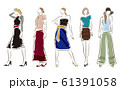 女性のファッションイラスト 61391058
