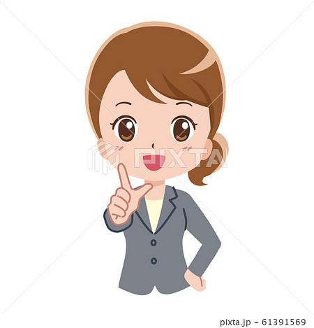 女性 ビジネス イラスト 61391569