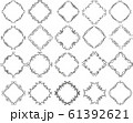 ひし形 アンティーク フレーム モダン レトロ ビンテージ 枠 テキストスペース イラスト セット 61392621