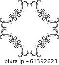 ひし形 アンティーク フレーム モダン レトロ ビンテージ 枠 テキストスペース イラスト 61392623