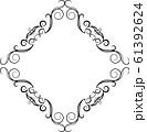 ひし形 アンティーク フレーム モダン レトロ ビンテージ 枠 テキストスペース イラスト 61392624