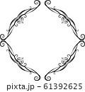 ひし形 アンティーク フレーム モダン レトロ ビンテージ 枠 テキストスペース イラスト 61392625